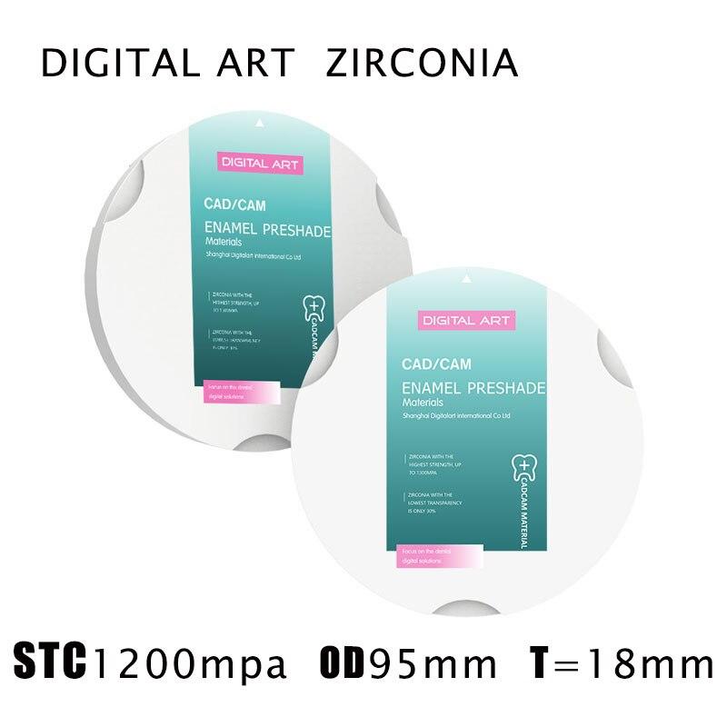 digitalart restauracao dental blocos de zirconia dental cad cam sirona stc95mm18mma1 d4