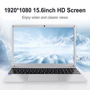 15.6 Inch 4GB RAM 128GB 256G SSD Notebook Intel E8000 Quad Core Laptop Student netbook with HDMI WiFi Bluetooth for office 1