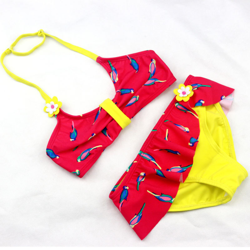 New Style Medium-sized CHILDREN'S Swimsuit Export Foreign Trade Sweet Split Type GIRL'S Bikini CHILDREN'S Swimsuit Wholesale