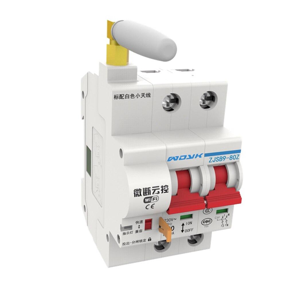 2P 20A télécommande disjoncteur Stable réarmable fermeture rapide surcharge interrupteur automatique Mini facile à installer WIFI électrique