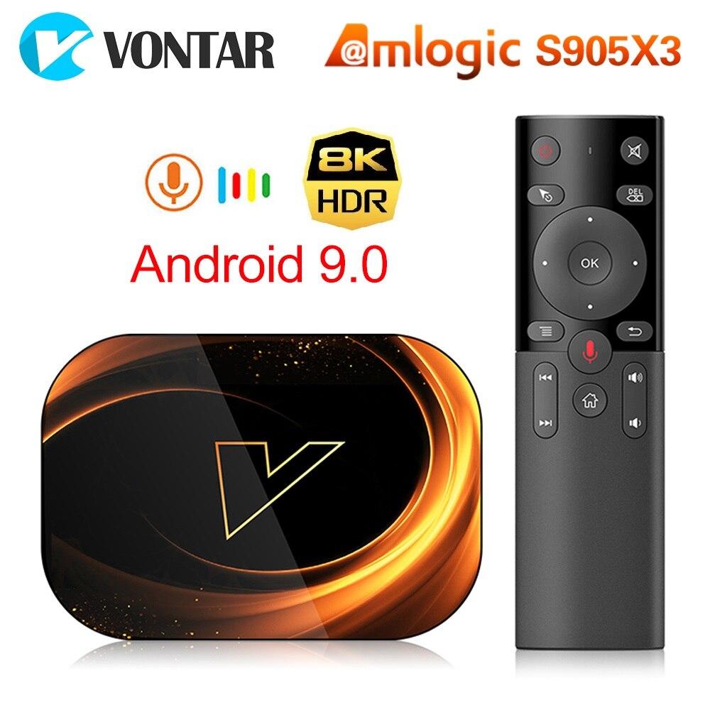 VONTAR X3 TV BOX Android 9.0 4GB 128GB 8K Amlogic S905X3 Dual Wifi 1080P 4K Youtube Media Player Set Top Box 4GB 64GB 32GB