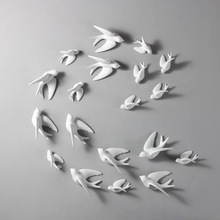 1 шт. 3D керамические птицы фрески настенные подвесные украшения ремесла украшения для дома P7Ding