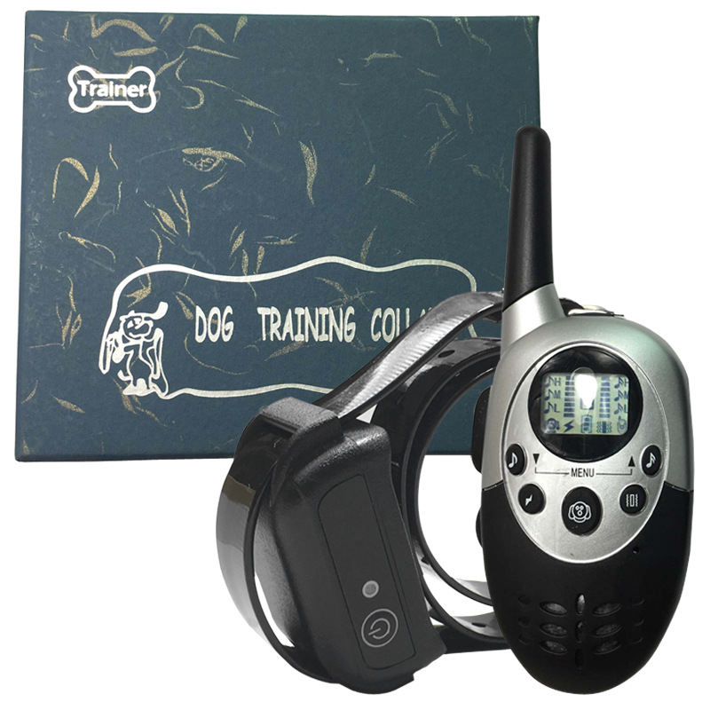 1000 M Yard Remote Control Zhi Fei Qi Waterproof Rechargeable Electric Shock Dog Trainer Neck Ring
