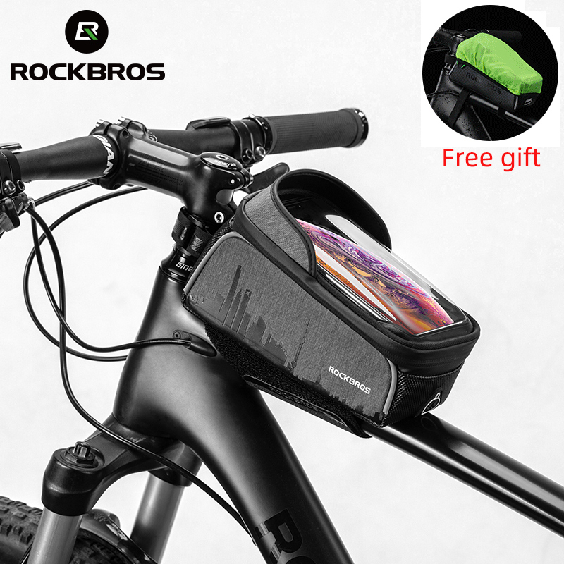 Bicycle Phone Bag Touchscreen Cycling Handlebar Bike Front Pouch CN
