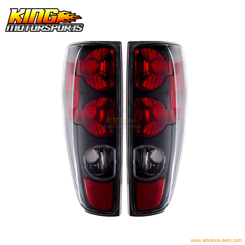 Fit For 2004-2008 Chevy Colorado GMC Canyon Tail Lights Black USA Domestic Free Shipping