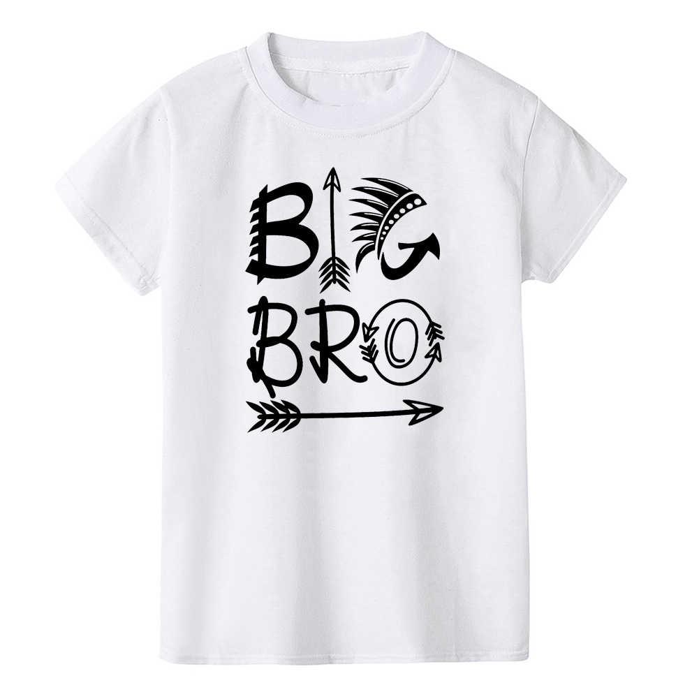 ทารกแรกเกิดทารกผ้าฝ้าย Romper Little Brother เด็ก Big Brother TShirt Famliy จับคู่เสื้อผ้าพี่น้อง Cousins Brothers ชุด