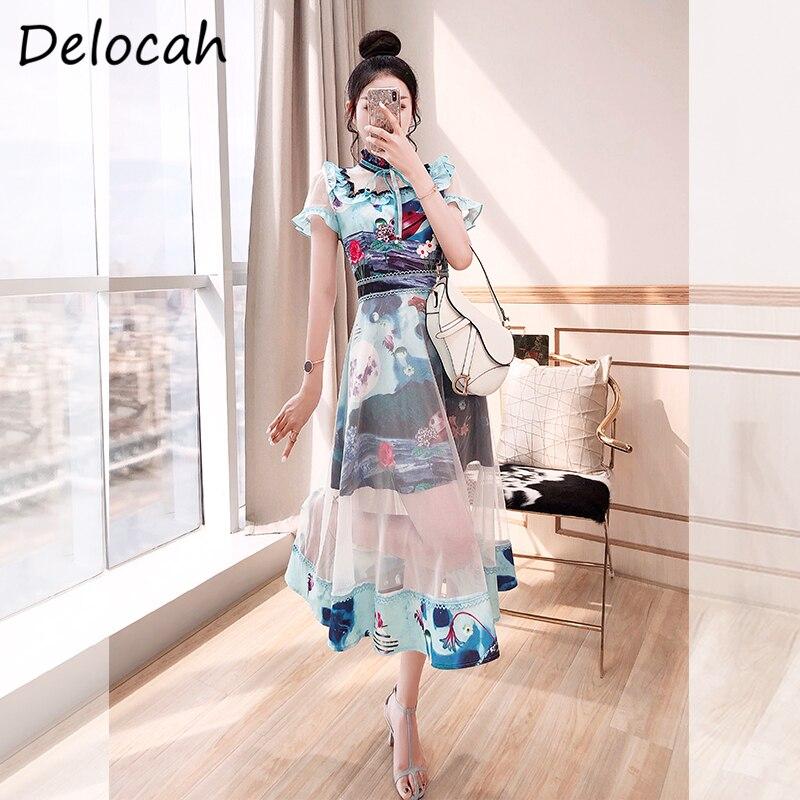 midi dress prom dress Short sleeve dress Summer women Cotton long dress