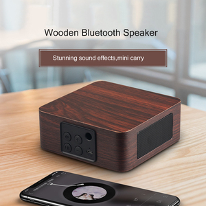 Image 4 - Bluetooth Wooden Bass Speaker Mini Wireless Subwoofer Portable Bass Column For Mobile Phone