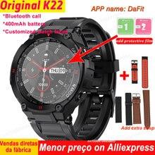 K22 Смарт-часы Для мужчин циферблат вызовов через Bluetooth по индивидуальному заказу циферблатов будильник Водонепроницаемый спортивные Фитне...