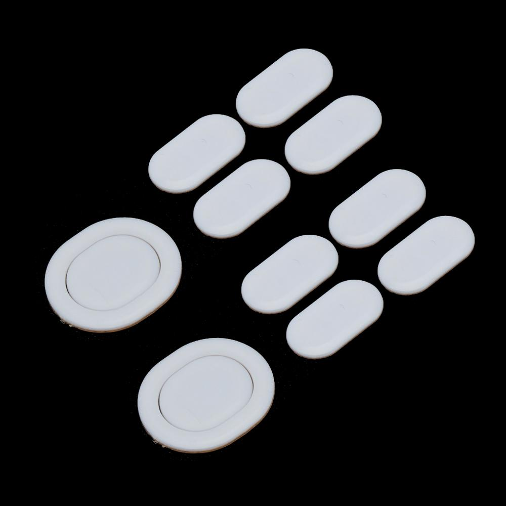 2 Sets/pack Tiger Gaming Mouse Feet Mouse Skate For Logitech G102 G PRO Wired White Teflon Mouse Glides Curve Edge