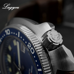 Image 4 - Lugyou סן מרטין צב Diver גברים שעון נירוסטה מכאני קרמיקה לוח מסתובב 20Bar ספיר קריסטל רצועת עור