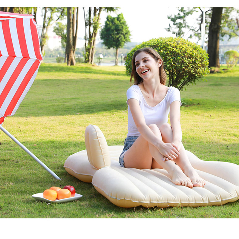 Automotive Air Inflatable Mattress Car Travel Bed Camping Sofa Rear Seat Rest Cushion Rest Sleeping pad have Air pump Universal