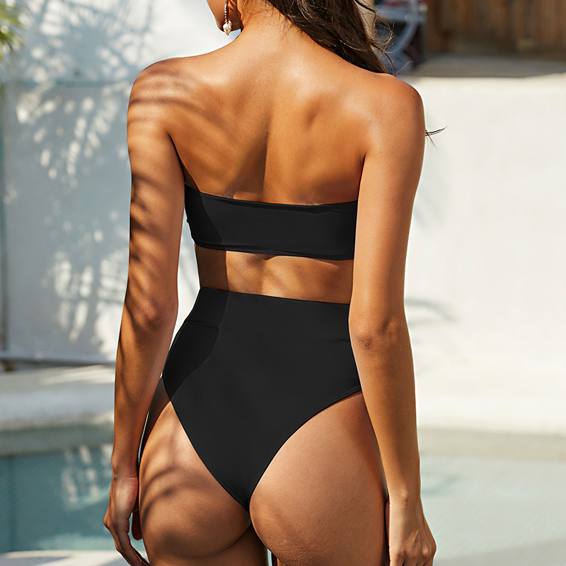 Mossha, белый женский купальник, бандо, бикини, 2020, Mujer, металлическая пряжка, пояс, женский купальник бикини, женский купальник 20