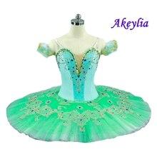 Mint Green Professional Ballet Tutu Skirt Pale Nutcracker Classical Tutus Dress Dance Ballerina Costumes For Female
