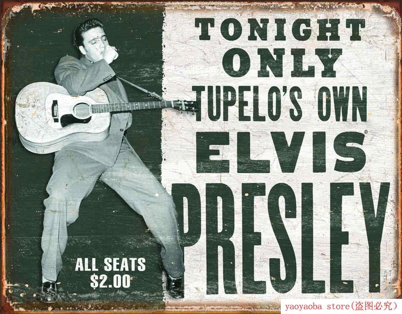 Zdesperowane przedsiębiorstwa Elvis presley-własny znak blaszany Metal malowany cynowy znak blaszany dekoracje ścienne deska Retro Pub i Bar plakat na blasze