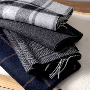 Scarf Men Winter Strip Solid Plaid Wool Luxury Classical Warm Long Soft Cashmere Scarves for Accessories - discount item  42% OFF Scarves & Wraps