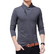 BROWON marka tişört 2020 erkek gömlek sonbahar moda uzun kollu T shirt erkekler Slim Fit artı boyutu M 5XL pamuk T gömlek