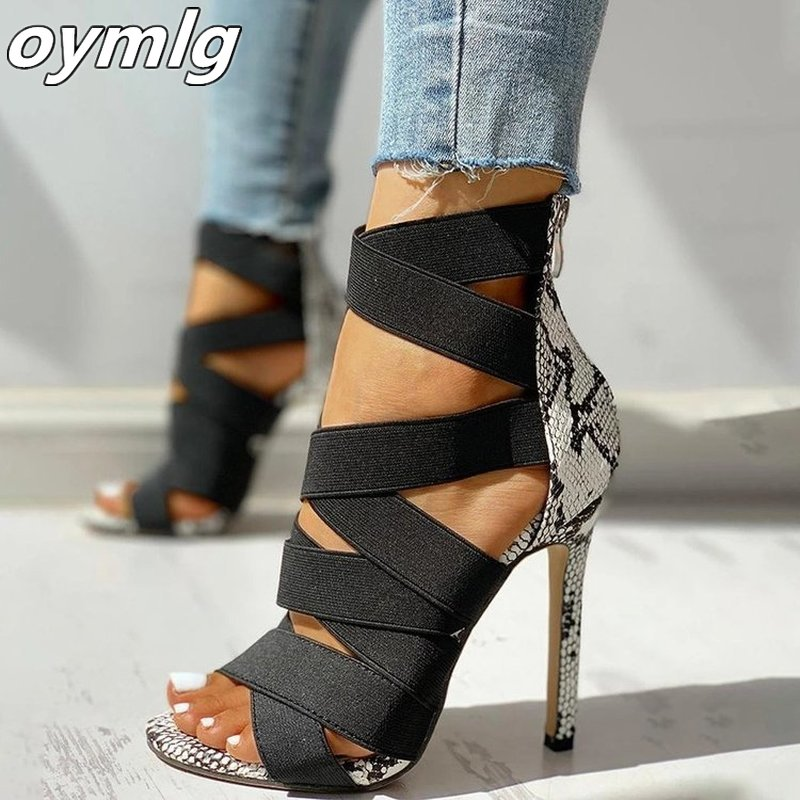 Women Sandal High Heels Gladiator Ankle Strap Sandals 2020 Summer Ladies Party Pumps Shoes Sandalia Feminina Big Size