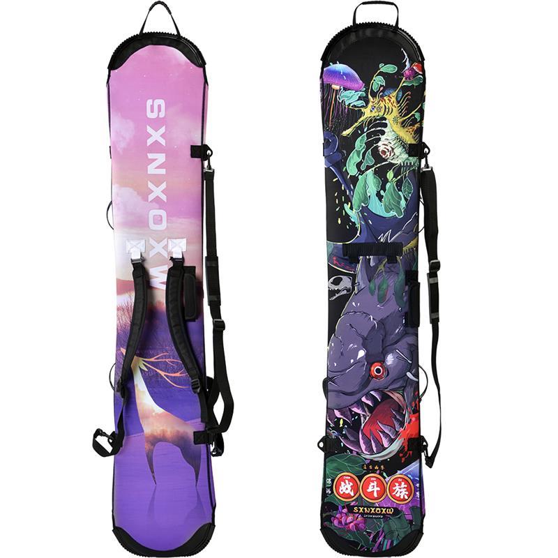 Чехол для сноуборда лыжный рюкзак эластичные утепленные 143/152/158/161 см, отправьте мне сообщение с указанием вашего доска по длине. A7338