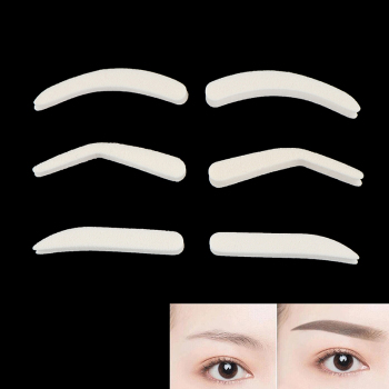 1Pair Eyebrow Template Stamp Sponge Stencils Eye Makeup 3style Natural Brow Type Professional Eye Make Up