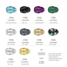 100% Оригинальные Кристаллы из австрийского 5728 бисер scarab