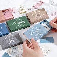 Yoofun 60 pçs/caixa escrita básica all-match neutro matchbox nota papel bala journaling decoração artigos de papelaria sem stickiness