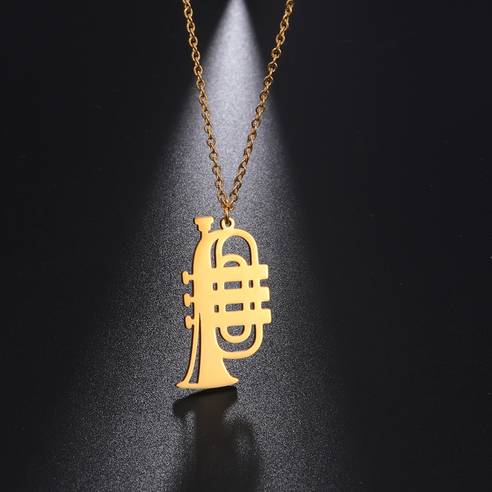My Shape Trumpet Necklace Stainless Steel