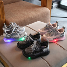 Buy Kids Shoes Toddler's Leisure Outdoors Casual Shoes Breathable Children's Mesh Sneaker Led luminous Sapato Infantil Light Shoes directly from merchant!