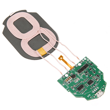 10W Qi Fast Charging Wireless Charger For iphone XR XS Max PCBA Circuit Board With Dual 2 Coils For Huawei Mate P30 P20 20