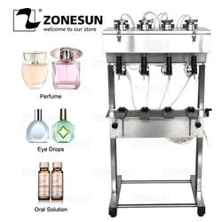 ZONESUN Vakuum Flüssigkeit Parfüm Füllung Maschine Milch Wasser Augen Kosmetik Getränke Pneumatische Füllstoff Flasche Füllung Ausrüstung