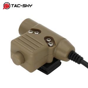 Image 3 - TAC  SKY PTT U94 new plug tactical PTT military headset adapter walkie talkie PTT hunting sport shooting tactical headset u94ptt