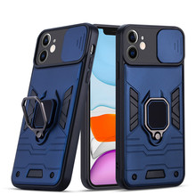 Slide Armor Shockproof Phone Case For iPhone 13 11 12 Pro Max 11 12  Pro 7 8 Plus XR X XS Max SE 2020 Soft TPU Back Cover Bumper