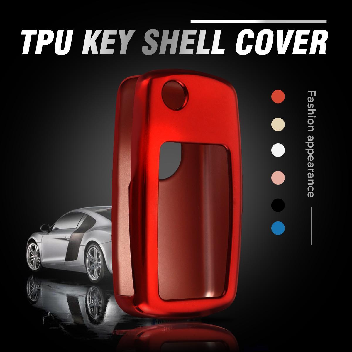 TPU Car Key Case For Volkswagen For VW Passat Golf Jetta Bora Polo Sagitar Tiguan CC Transporter Cover Protector 2009 - 2013