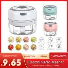 Mini USB elektryczny czosnek Masher bezprzewodowy obieraczka do czosnku naciśnij Mincer warzyw Chili maszynka do mielenia mięsa urządzenie do siekania żywności narzędzia kuchenne