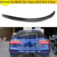 Car styling Carbon Fiber Rear Wing Boot Lip Spoiler For Mercedes Benz GLC Class X253 SUV 4 Door GLC43 AMG GLC250 GLC300 16 17
