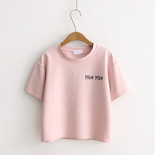 New Summer T shirt Women printing cotton Loose Casual tshirt 2018 Hot Short O-ne