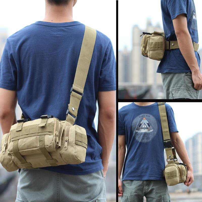 Hiking Outdoor Waist Bag 6L Waterproof Oxford Climbing Shoulder Bags Military Tactical Fishing Camping Pouch Bag Mochila Bolsa