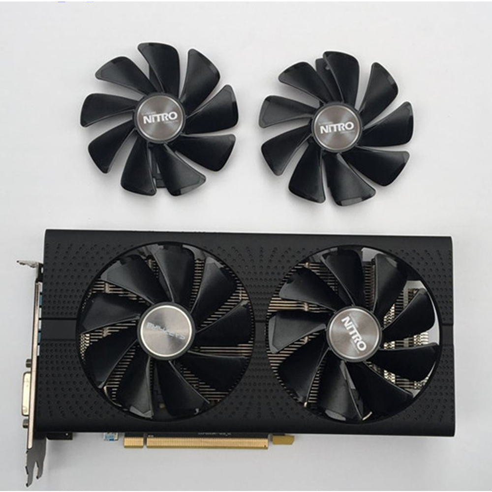 SAPPHIRE AMD Radeon NITRO+/PULSE RX580 Graphics Card Cooling Fan RX470 RX570 RX480 RX580 RX590 4G/8G Cooler Fans For Video Card