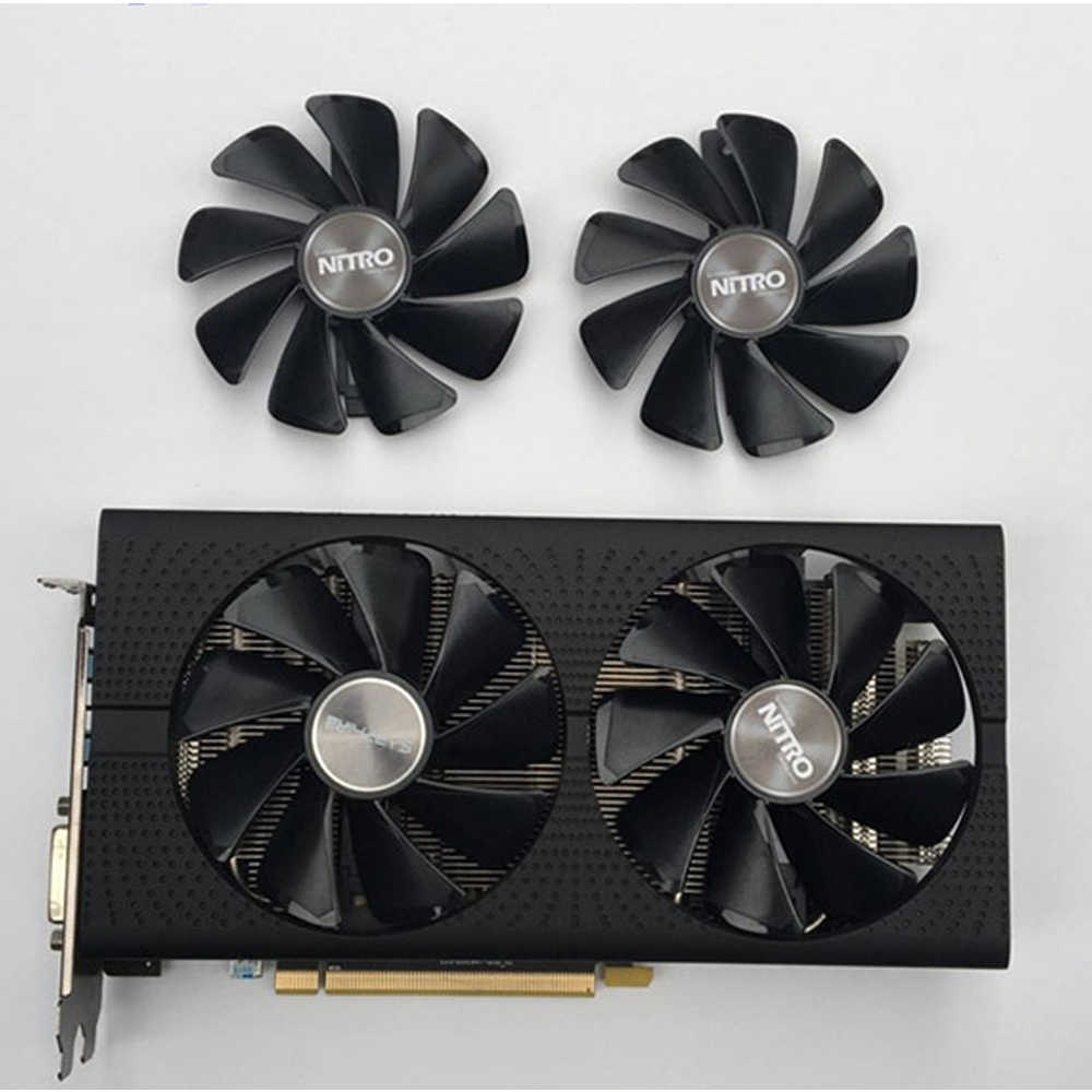 Sapphire AMD Radeon RX580 Kartu Grafis Kipas Pendingin Nitro +/Pulse RX470 RX570 RX480 RX580 RX590 4G/ 8G Kartu Video Cooler Penggemar