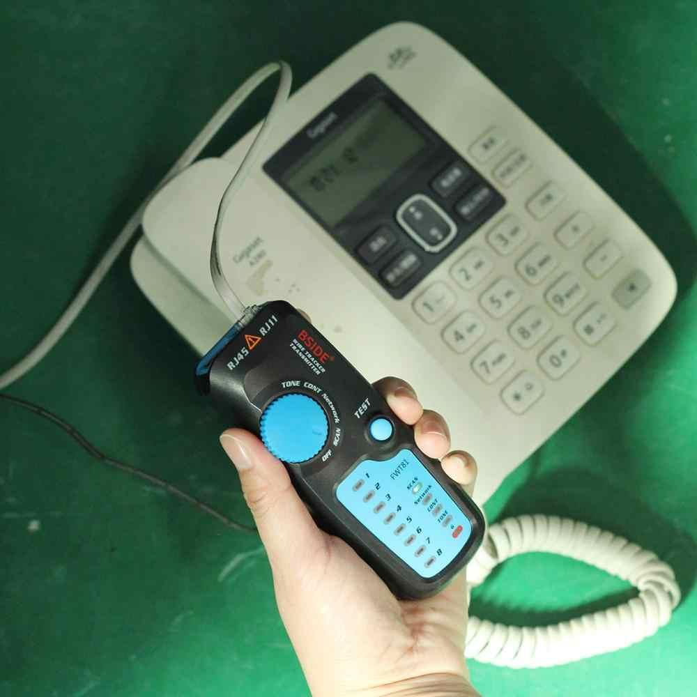 Bside FWT81 كابل المقتفي RJ45 RJ11 سلك الهاتف شبكة LAN TV الكهربائية خط مكتشف الفاحص