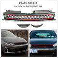 Voiture ABS avant barre haute noir rouge garniture maille Grille pour VW Golf 6 MK6 2010 2014|Pare-chocs| |  -