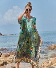 Fácil seco Playa traje Plage Vestido Playa Pareo de Playa traje de baño Cover up ropa de talla grande traje de baño las mujeres Maxi Vestido