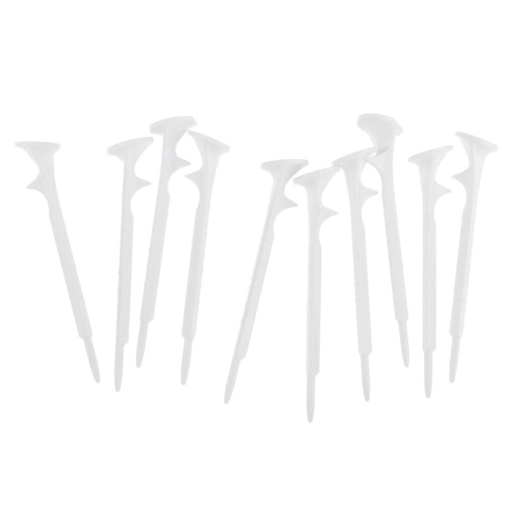 Set 10 Lightweight 73mm Plastic Golf Tees Set Outdoor Sports Golf Training Aid