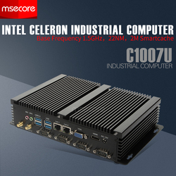 MSECOREC1007U I5 3317U بدون مروحة البسيطة PC ويندوز 10 كمبيوتر مكتبي الصناعية بناء Nettop هيكلى HTPC HDMI VGA 2 * LAN 4 * COM WiFi