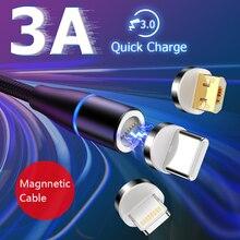 Магнитный кабель USB для быстрой зарядки кабель usb type C Магнитный кабель для зарядки данных Micro USB кабель для мобильного телефона USB шнур