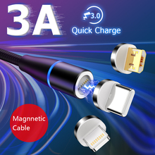 Magnetic USB Cable for Iphone Samsung Huawei Andriod mobile Phone Fast Charging Universal Type C Micro Iphone USB Cord