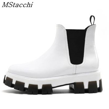 MStacchi Winter Shoes Brand Platform Casual Sneakers Woman Chunky Bottom Sneakers Mujer Fashion Slip-On Shoes Zapatillas Mujer