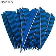 100 шт ontfihs 4 дюймовый щит для стрел и перьев полосатый шлейф