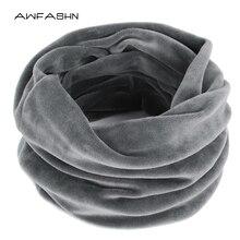 Новое модное зимнее однотонное бархатное тканевое кольцо шарф женские шарфы винтажный женский теплый шарф теплый броский мужской лыжный