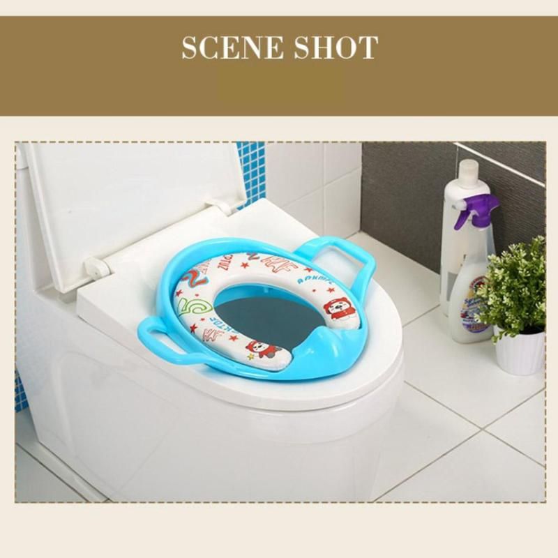 Plastics Baby Potty Seat Ring Environmental Protection Easy To Use With Armrests Girl Training Tool Children Products